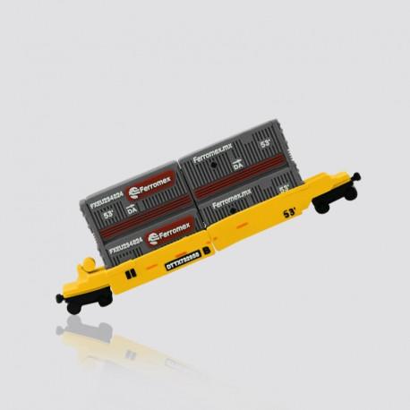 Memoria USB promocional en forma de vagón de carga FERROMEX