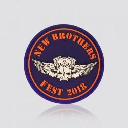 Parche promocional en forma de logo NEW BROTHERS FEST 2018