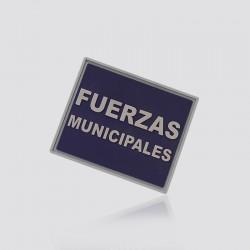 Parche promocional en forma de logo FUERZAS MUNICIPALES