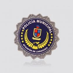 Parche promocional en forma de logo POLICÍA MUNICIPAL