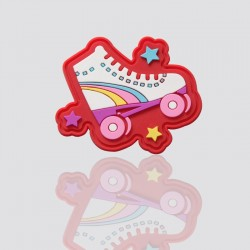parche publicitario de plastico suave patines