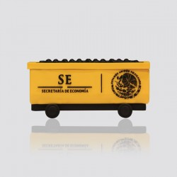 POWER BANK promocional en forma de vagón de carga SECRETARÍA DE ECONOMÍA