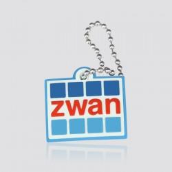 Llavero promocional en forma de logo ZWAN
