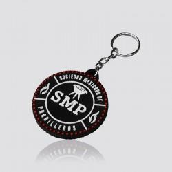 Llavero promocional en forma de logo SMP
