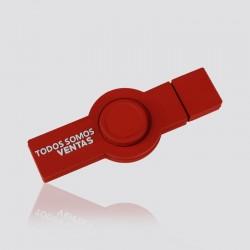 Spinner promocional USB de pvc TODOS SOMOS VENTAS