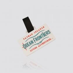 Identificador de maletas promocional en forma de logo OCEAN FRONTIERS