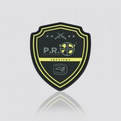 Parche promocional en forma de escudo P.R. UNIFORMES TÁCTICOS