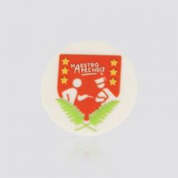 Pin promocional en forma de escudo MAESTRO APRENDIZ