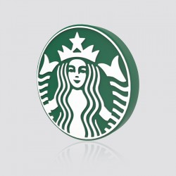 POWER BANK de proximidad promocional en forma de logo STARBUCKS
