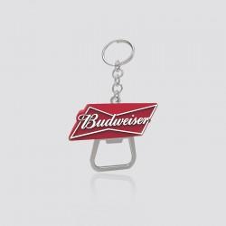 Llavero promocional en forma de logo BUDWEISER