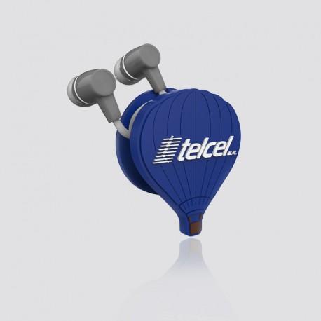 Sujeta cables promocional en forma de globo TELCEL