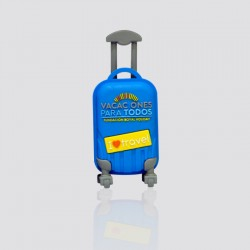 Memoria USB promocional en forma de maleta de viaje VACAIONES PARA TODOS