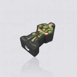 POWER BANK promocional en forma de MILITAR