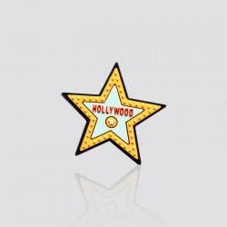Pin promocional en forma de estrella HOLLYWOOD