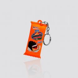 Llavero promocional en forma de mini pastelito GANSITO