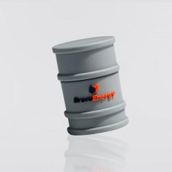 Memoria USB promocional en forma de barril BRAVO ENERGY
