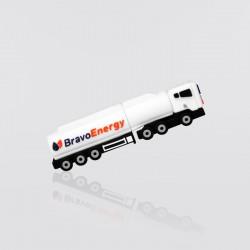 Memoria USB promocional en forma de camión de carga BRAVO ENERGY