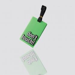 identificador de maletas publicitario de pvc dont touch
