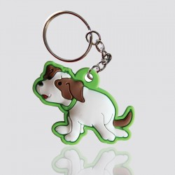 llavero promocional en forma de perro de colores