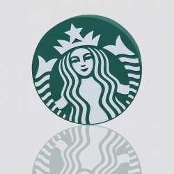 POWER BANK promocional en forma de logo STARBUCKS