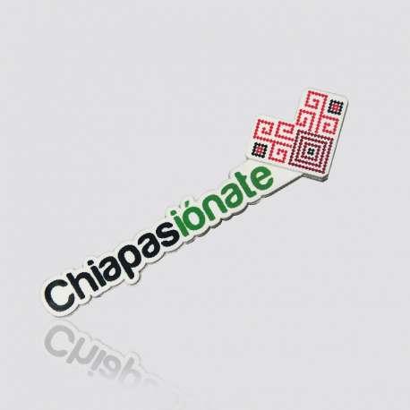 Memoria USB  promocional en forma de logo CHIAPASIONATE